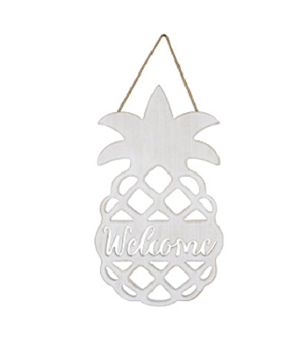 youngs Inc Wood Pineapple Welcome Wall Hanging, Multi ()