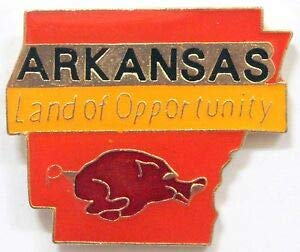 (Handsome Enamel Lapel pins - State of Arkansas Pin Lapel Hat Land of Opportunity Razorbacks Travel Tie Tack - Unique Pins and Brooches )