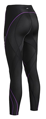 CW-X Pro Tights, Black/Purple, Medium by CW-X (Image #3)