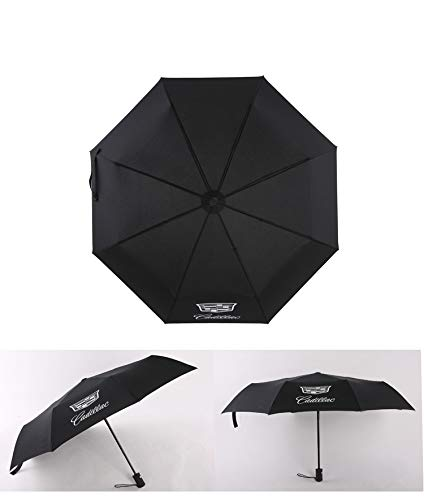 592ba7b466b1 monochef Auto Sport AUTO Open Large Folding Umbrella Windproof Sunshade  with Car Logo (Cadillac)
