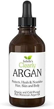 Clearly ARGAN, Aceite de Argán ORGÁNICO Para Cabello, Barba, Piel, Cara, Uñas y Cutículas I El Mejor Humectant