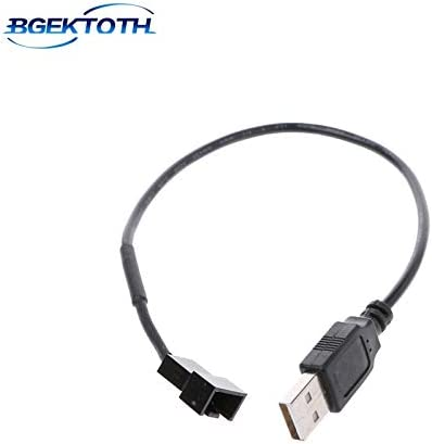 Occus New USB 2.0 A Male to 3-Pin//4-Pin Connector Adapter Cable for 5V Computer PC Fan Feb8 Cable Length: 32cm, Color: 3-Pin