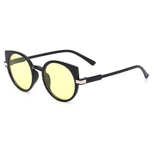 de océan lentille lunettes Designer Kalttoy Eye marque de lunettes UV400 Jaune soleil Cat unisexe luxe mode qXYnt