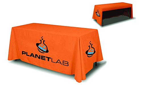 Tablecloth With Logo (Next Day Display Custom Print Tablecloth for Trade Shows and Events (6ft Table Cover 3 Sided (Open)