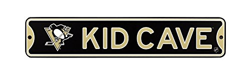 Authentic Street Signs NHL Hockey Officially Licensed STEEL Kid Cave Sign-Decor for sports fan bed room! (Pittsburgh Penguins) from Authentic Street Signs