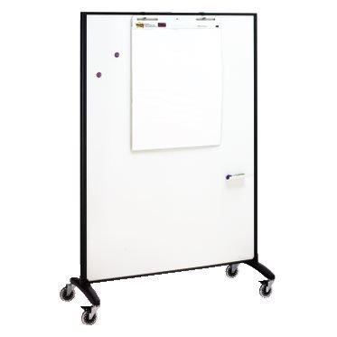 Quartet Motion® Room Divider, 4' x 6', DuraMax® Porcelain Whiteboard Surface (QRT6640MB) by Quartet