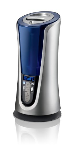HoMedics Warm and Cool Mist Ultrasonic Tower Humidifier - 1.5 Gallon, Runs up to 65 hours, Built-in timer, LCD Digital Display, Demineralization Carridges Included, UHE-WM85