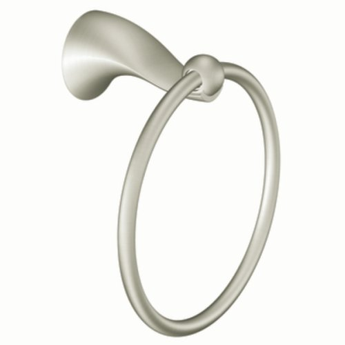 Moen DN8586BN Cabrina Towel Ring, Brushed Nickel Cabrina Towel Bar