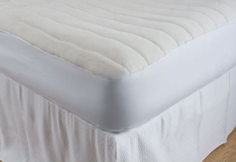 Terry Filled Comfort Mattress Pad, Bed Topper / Protector, Queen Size, by DownTown Company