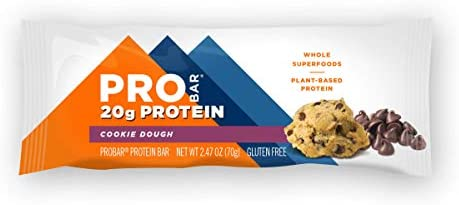 PROBAR - Base Protein Bar, Cookie Dough, Non-GMO, Gluten-Free, Healthy, Plant-Based Whole Food Ingredients, Natural Energy (12 Count) 2