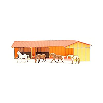Priefert Unisex Toy Horses and Stable Tan One Size: Toys & Games