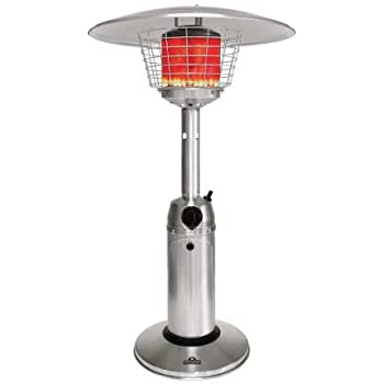 Superbe Napoleon Tabletop Patio Heater 11000 BTU Propane, Stainless Steel