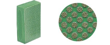 Grit Diamond Hand Pad - CRL 3M™ 60X Grit Flexible Diamond Hand Pad - Green