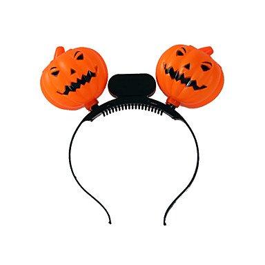 2PC Halloween PumpkinHead Buckle Costume Party Props ()