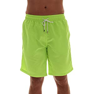 Whiskey and Oak Men's Swimming Trunks Shorts with Pockets, Quick Dry Bathing Suit – Longer Length