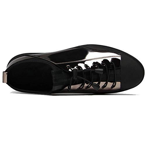 Verniciata da Fashion Black Scarpe in Pelle Quotidiana Versione Coreana Guida Tendenza Casual Summer 8Bfttx