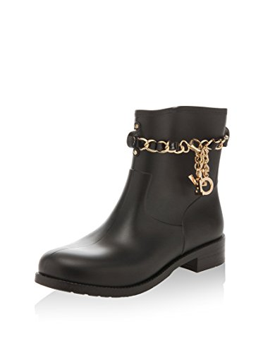 femme LOVE Work MOSCHINO Wellingtons Noir FO4CYRqw