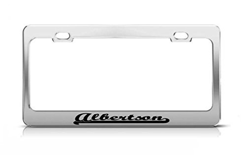albertson-last-name-ancestry-metal-chrome-tag-holder-license-plate-cover-frame-license-tag-holder