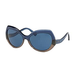 Coach Women's HC8177 Sunglasses Denim Taupe Glitter Gradient/Dark Blue Solid 59mm
