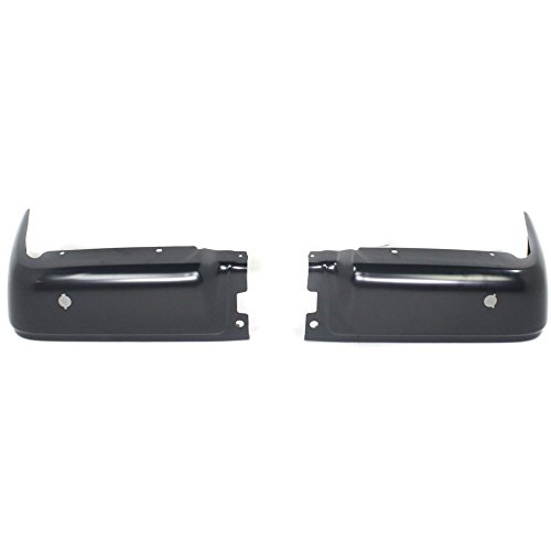 Evan-Fischer EVA17372037235 Step Bumper for Ford F-150 09-14 Powdercoated Black w/Rear Object Sensors Hole Styleside