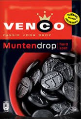 Venco Passie voor drop Muntendrop Hard Zoet (Coin Licorice Hard Sweet) 240gram