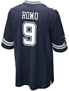 5d56c0fa651 get dallas cowboys tony romo 9 nike navy game replica jersey 75248 cc559