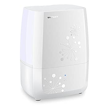 URPOWER Humidifiers, 4L Whisper-quiet Operation Ultrasonic Cool Mist Humidifier Waterless Auto Shut-off Air Humidifier with Adjustable Mist Mode Sleep Mode Humidifiers for Bedroom Babyroom Office