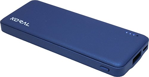 Koral Luma 3000 Portable Charger - Compact 3000mAh Power Bank (External Battery) for iPhone 6, 7, 8, X, iPad, Kindle, Samsung Galaxy & All Android (Navy)