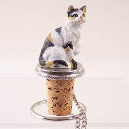Shorthair Calico Cat Wine Bottle Stopper CTB05