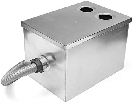 Gallons Per Minute Grease Trap Interceptor Stainless Steel 35x 25x25cm 8LB 5GPM Mechanic Tools