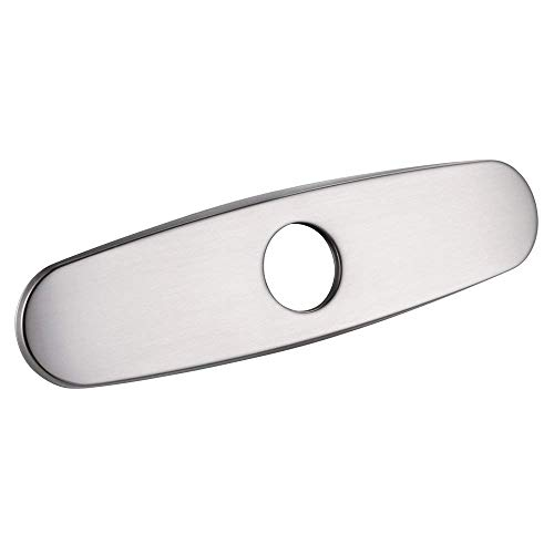 ASPA 10 Inch Kitchen Sink Faucet Hole Cover Deck Plate Escutcheon, Brushed Nickel