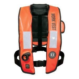 Mustang Inflatable Work Vest w/HIT Orange by Mustang Survival B00OW8N8EG