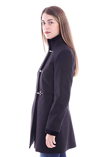 Fay And Cashmere In Virginia Black Coat Wool Mujer rXxOr4qwa