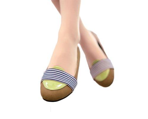 Fascino Piede Moda Striscia Delle Donne Pompa Scarpe Basse Scarpe Casual Giallo Scuro