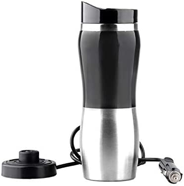 12V Stainless Steel Car Auto Heating Cup Kettle 400ml Water Heater Bottle UR