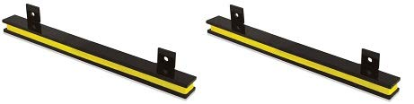 Master Magnetics AM2PLC Magnetic Tool Holder, 13'' Wide, 20 lb per inch, Black Powder Coat with Yellow Stripe (2-Pack)