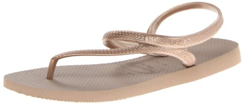 Havaianas Rubber Sole Sandals - Havaianas Women's Flip Flop Sandals, Flash Urban,Rose Gold,39/40 BR (9/10 M US)