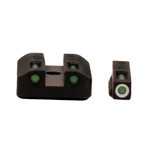 Truglo TRUG Cz 75 Series Front Rear Sights Tfx Tritium Fiber Optic Set, Green/Steel Black by Truglo