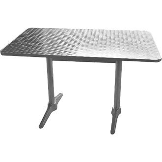 Bolero Table de Jardin rectangulaire en Acier Inoxydable et ...