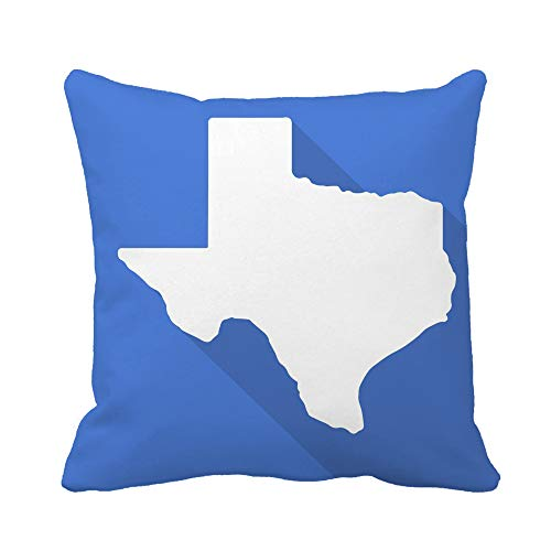 Chair Houston Video Texans - Awowee Throw Pillow Cover Texas White Map Border Flat Simple Long Shadow 16x16 Inches Pillowcase Home Decorative Square Pillow Case Cushion Cover