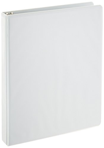 Large Product Image of AmazonBasics 3-Ring Binder, 1 Inch - 4-Pack (White)