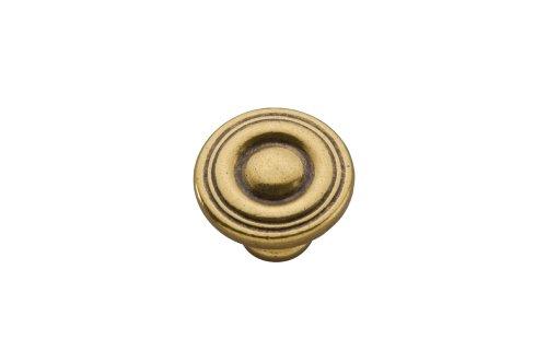 Lustre Brass Finish - Hickory Hardware P14402-LB 1-1/8-Inch Conquest Cabinet Knob, Lustre Brass