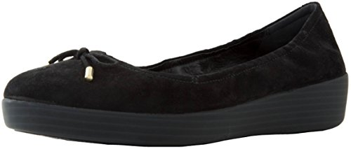 FitFlop Womens Superbendy Ballerinas Shoe Black Suede, 9 B(M) US by FitFlop