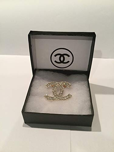 Chanel Brooch inspired with Crystal gold CC -