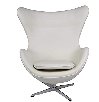 Enjoyable Mlf Arne Jacobsen Egg Chair 4 Colors Premium Aniline Leather Hand Sewing High Density Foam Swivel 4 Star Satin Polished Aluminum Base Strong Pabps2019 Chair Design Images Pabps2019Com