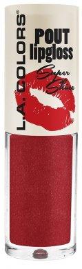 Clg Matte - LA COLORS POUT Lip Gloss Super Shine 0.15oz (CLG646-Hot Lips)