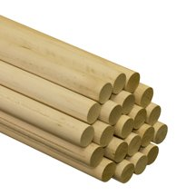50 Pcs, 1'' X 48'' Birch Wood Dowels Hardwood by SNS
