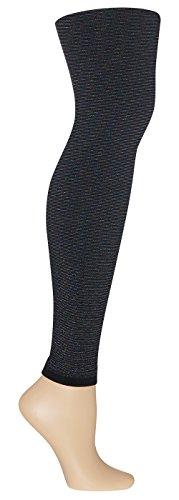 Capelli New York Girl's Rainbow Metallic Fleece Lined Seamless Legging Black Small / (Capelli Fleece)