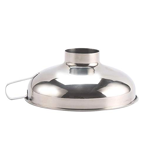 (Joker Nurse - Stainless Steel Wide Mouth Funnel Canning Hopper Filter Food Pickles Jam Gadgets Cooking - Strainers Colanders Strainers Harness Types Funnel Wide Kitchen Strainer Tablet Mouth)