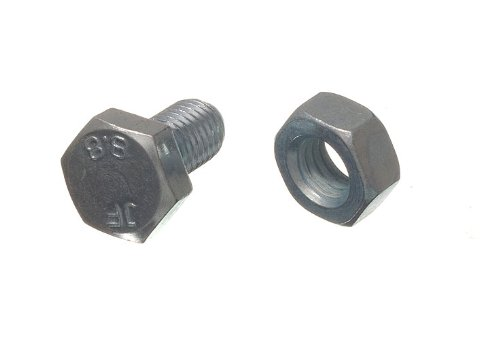 HEX BOLT SET SCREW 8.8 GRADE STEEL M10 X 20MM + NUTS BZP ( pack 10 ) onestopdiy.com